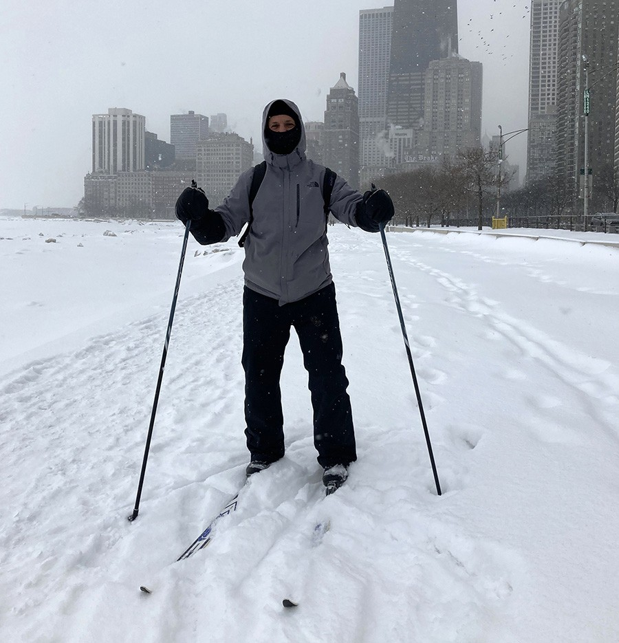 The author on the lakefront near Division Street - JOHN GREENFIELD