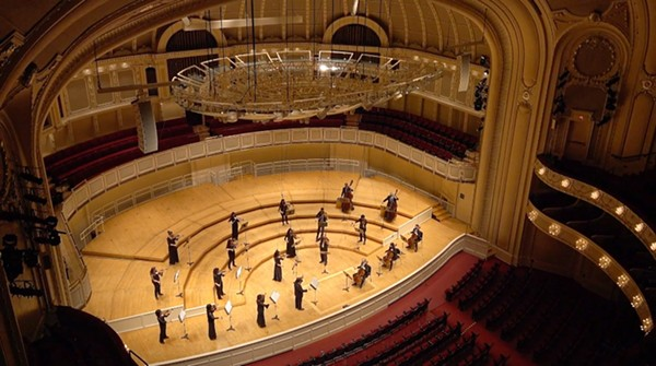 Music from an empty hall: the CSO performs Tchaikovsky's Serenade for Strings for CSOtv. - TODD ROSENBERG