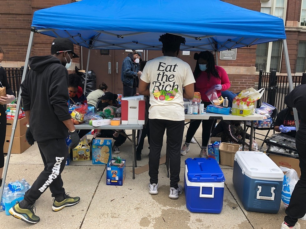 By September 2020, the People's Grab-N-Go had given food and supplies to 3,700 families in need. - COURTESY MATT MUSE/PEOPLE'S GRAB-N-GO