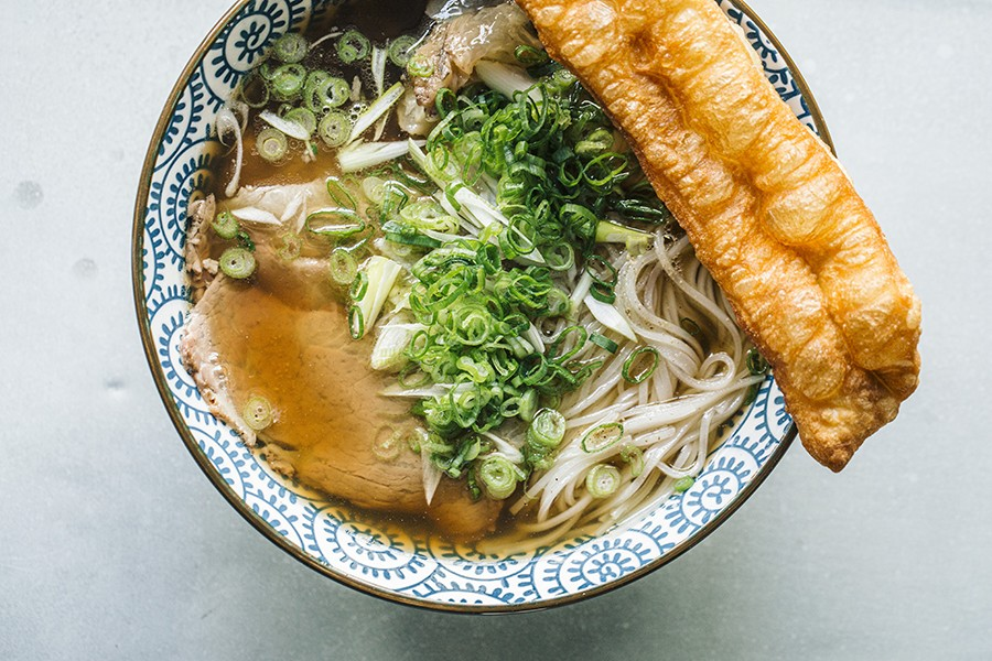 Hanoi-style pho with Chinese-style crullers - JEFF MARINI FOR CHICAGO READER