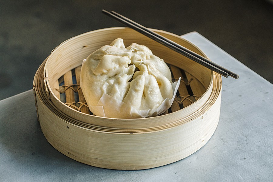 The steamed dumpling banh bao is the showstopper on Giống Giống's eight-item menu. - JEFF MARINI FOR CHICAGO READER