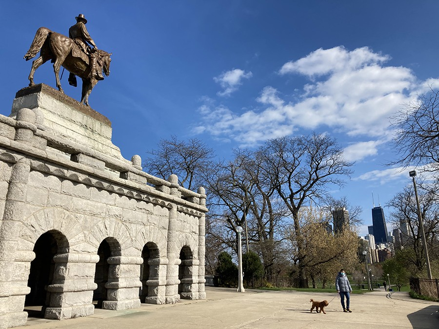 Statue of Ulysses S. Grant in Lincoln Park - JOHN GREENFIELD
