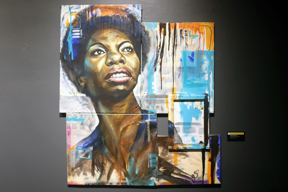 Xcessory Freex: Nina Simone by Clauetta Howard is one of the many pieces that pay tribute to Black people who have influenced culture, politics, and more. - ARIONNE NETTLES