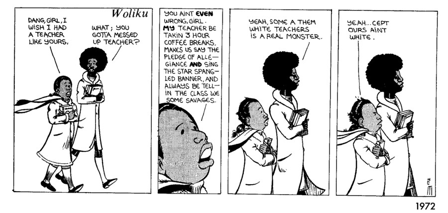 A 1972 strip by artist Seitu Hayden. - COURTESY OF THE MUSEUM OF CONTEMPORARY ART CHICAGO