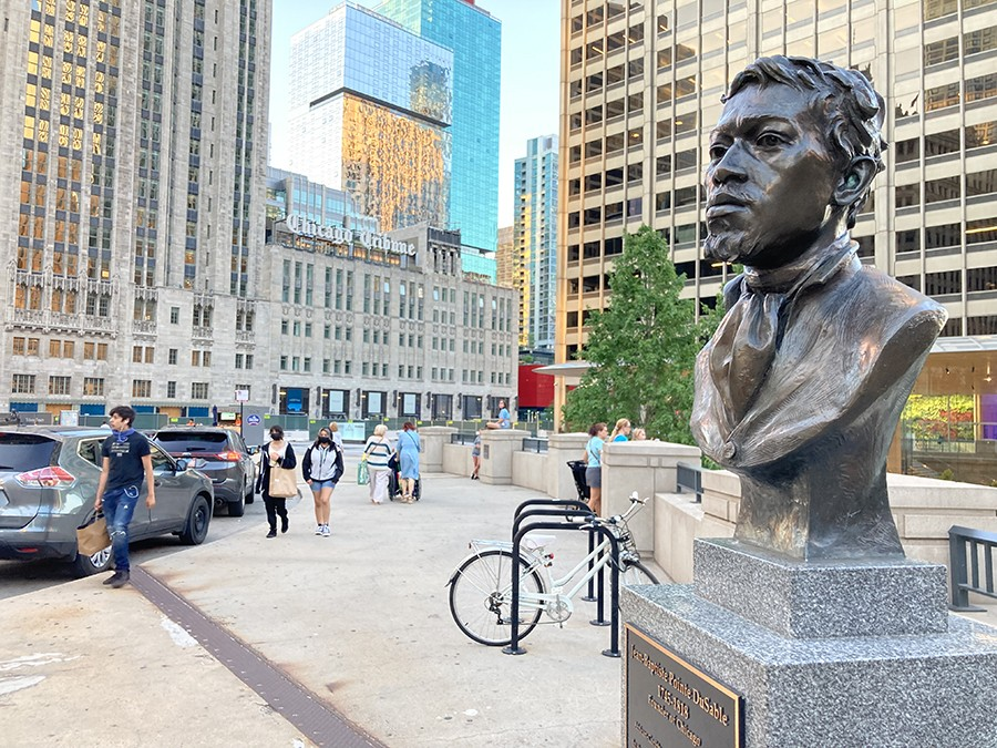 Bust of DuSable on Michigan Avenue - JOHN GREENFIELD