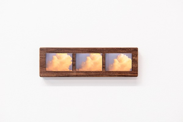 Hyun Jung Jun, bubbles and clouds in the afternoon, archival inkjet print mounted on walnut. - COURTESY OF GOLDFINCH