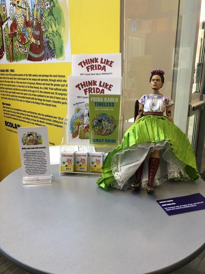 The exhibition offers family-friendly programming, and an improbable Frida Kahlo doll. - KT HAWBAKER