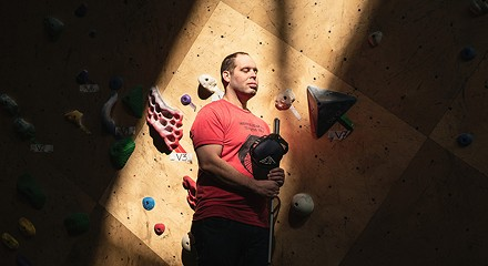 For a blind climber, ascending walls is 'moving meditation'
