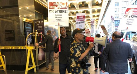 Hotel workers' strike now in its second week with no end in sight