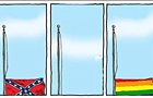 This editorial cartoon sums up last week in America