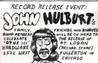 This drawing of John Hulburt celebrates the release of John Hulburt's record