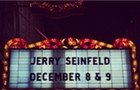 At the Chicago Theatre, Jerry Seinfeld is given a stage to match his celebrity