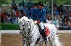The Tempel Lipizzans show off their mastery of equine ballet