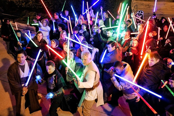May the 4th Be With You Lightsaber Battle
