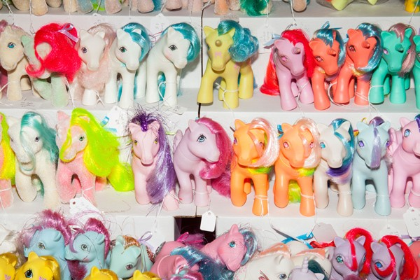 A typical stable of merchandise in the vendor area of the My Little Pony Fair