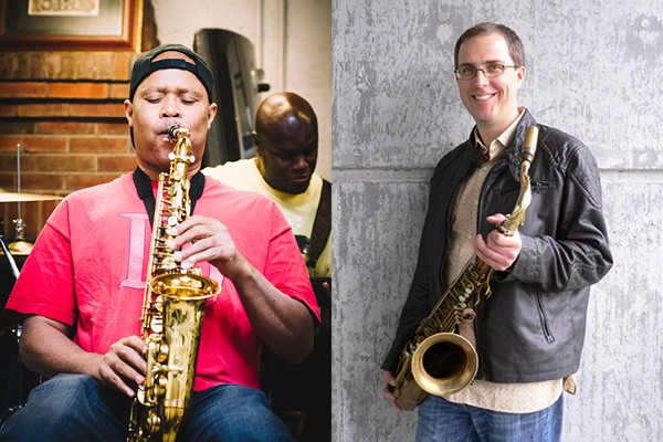 Steve Coleman (left) and Geof Bradfield had a wide-ranging and erudite conversation for this week's Artist on Artist.