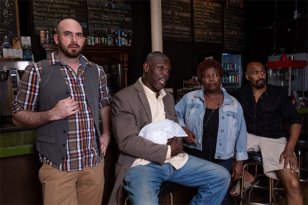 Aaron Spencer, Darren Jones, RjW Mays, and Christopher McMorris in Interrobang Theatre Project's Katrina: Mother-In-Law of 'Em All.