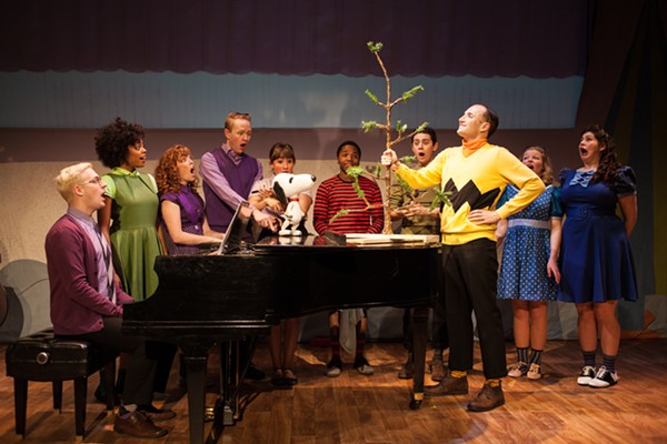 The cast of A Charlie Brown Christmas