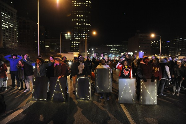 Black Youth Project 100 members were among the activists taking part in protests last week following the release of a video showing Laquan McDonald's killing.