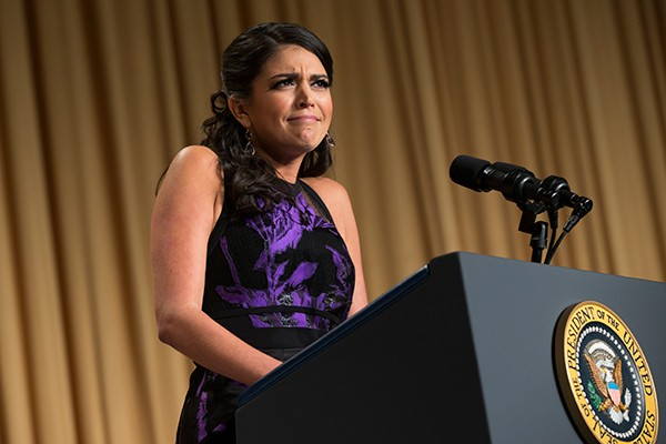 Cecily Strong during her set at the White House Correspondents' Dinner in April