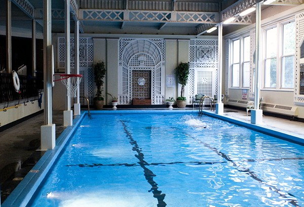 The indoor pool at the Edgewater Beach Apartments, which is one place that's open to the public during Open House Chicago