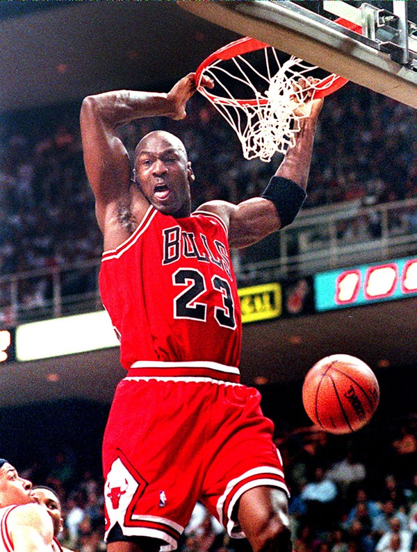 Michael Jordan in his glory days