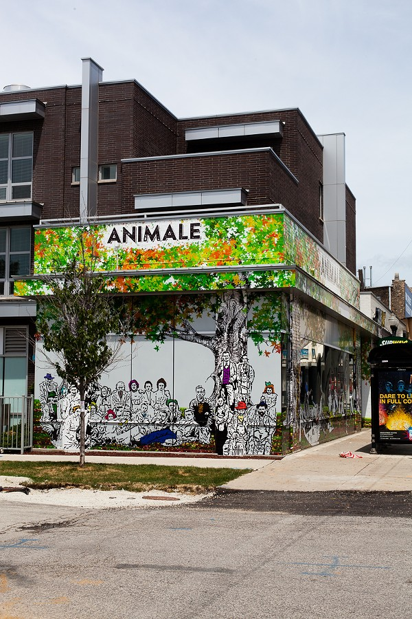 The exterior of Animale