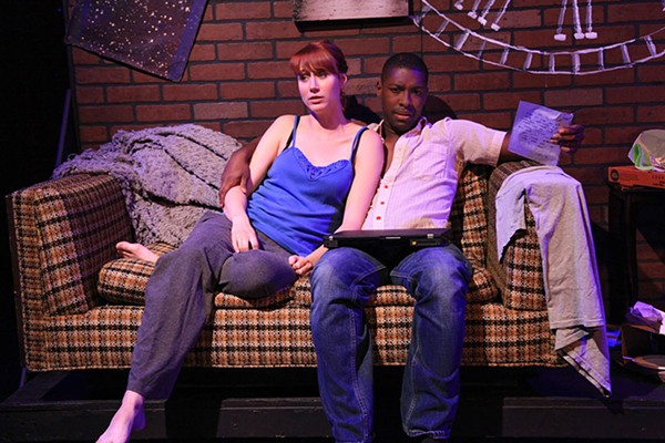 Brittany Stock and Justin Wade Wilson in The Black Slot