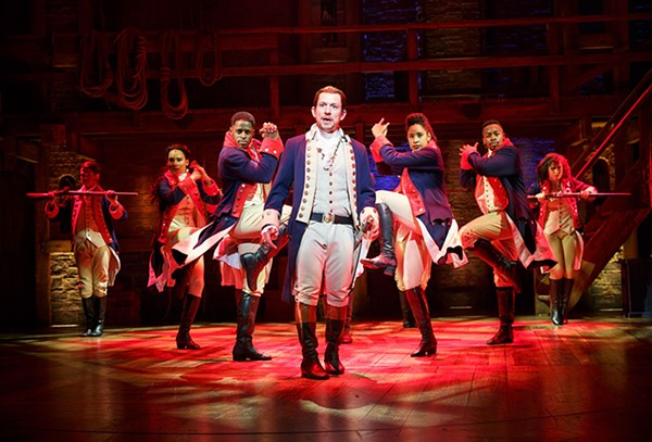 Miguel Cervantes and Hamilton cast members