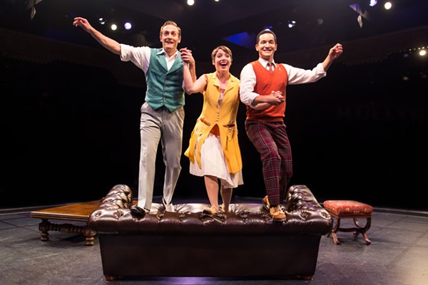 Danny Gardner, Mary Michael Patterson, and Richard Riaz Yoder in Singin' in the Rain