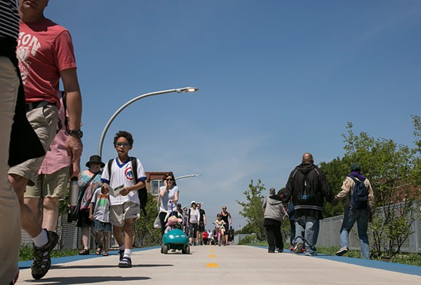 Activists worry about gentrification spurred by transportation improvements like the 606 trail.
