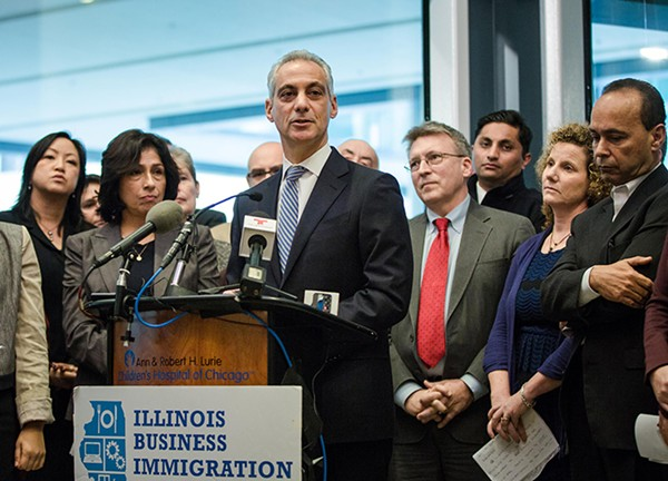 Mayor Rahm Emanuel reiterated the city's support for immigrants at a press conference Monday.
