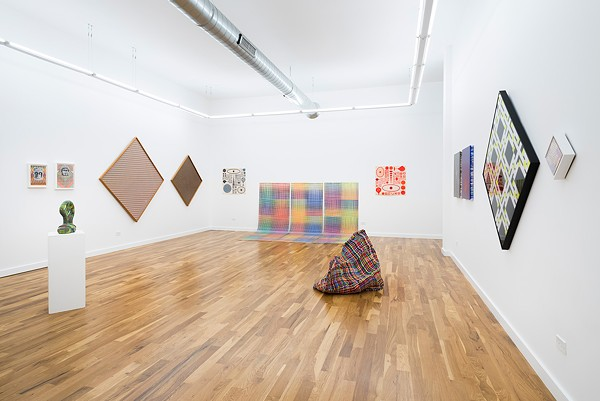 """Installation view of """"Underlying System Is Not Known"""" at Western Exhibitions' new gallery space in West Town"""
