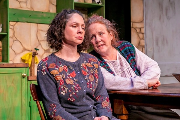 Jaimelyn Gray and Kate Harris in Bluebird Arts' The Beauty Queen of Leenane