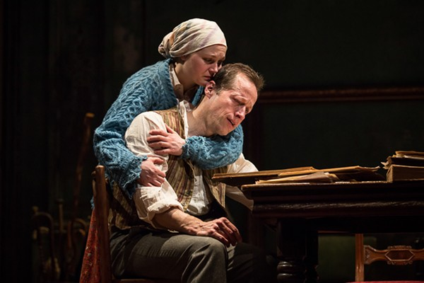 Caroline Neff and Tim Hopper in Goodman Theatre's Uncle Vanya