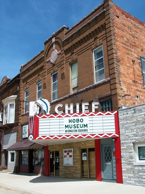 The Hobo Museum is located in the former Chief movie theater