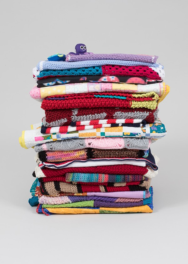 "A selection of ""welcome blankets"" sent to the Smart Museum"