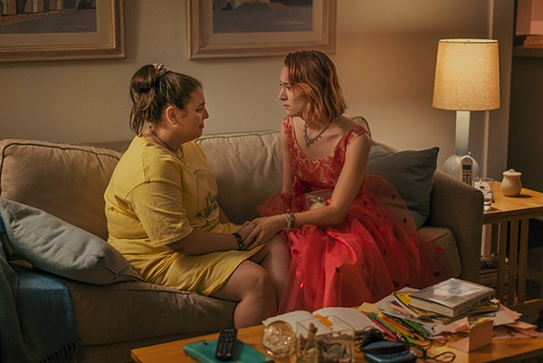 Beanie Feldstein and Saoirse Ronan in Lady Bird