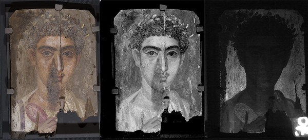 Comparison of a mummy portrait using imaging technology