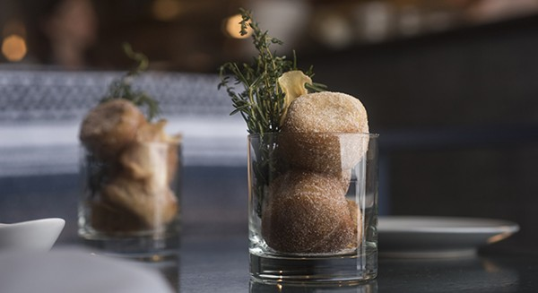 Warm beignets with parsnip cream