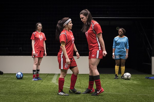 Sarah Price, Isa Arciniegas, Natalie Joyce, and Angela Alise in The Wolves