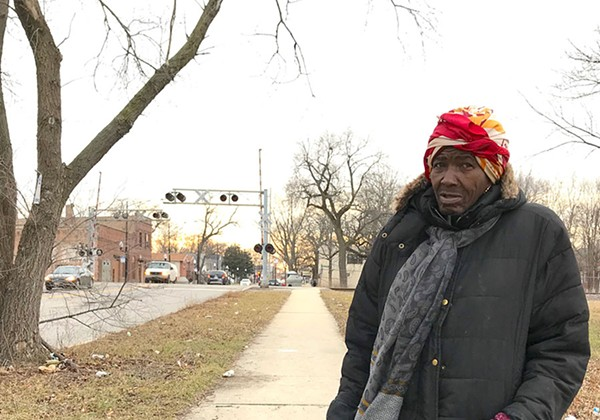 Lelea Herring near the planned location of the 103rd Street Red Line stop