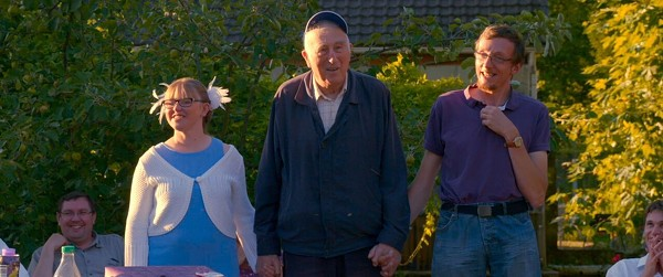 Jean Vanier (center) in Summer in the Forest