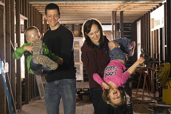 Matthew and Sarah Johnson and their children, Derek and Emily