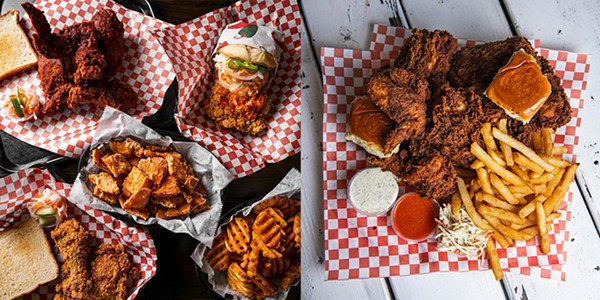 Spreads at Big Boss Spicy Fried Chicken (left) and Chicken Pollo Shack (right)