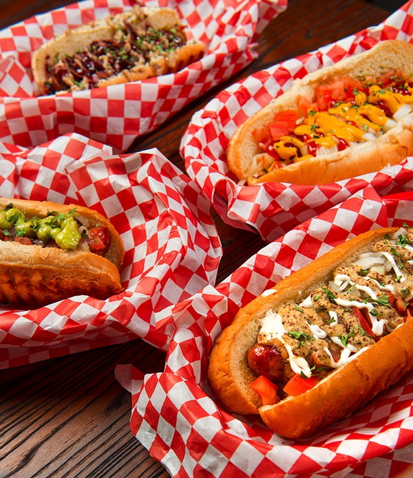 Clockwise from front: Nola Dog, Swamp Dog, Murray Dog, Louisiana Smoke Dog