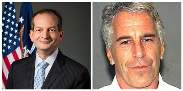 Alexander Acosta (left), the top federal prosecutor in Miami who later became President Trump's secretary of labor, says he was told Jeffrey Epstein was above his pay grade.