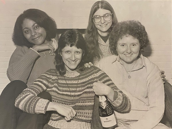 From left: Etas Michele Carria, Yvonne Zipter, Toni Armstrong Jr., and Ann Morris, the founders of Hot Wire: The Journal of Women's Music and Culture