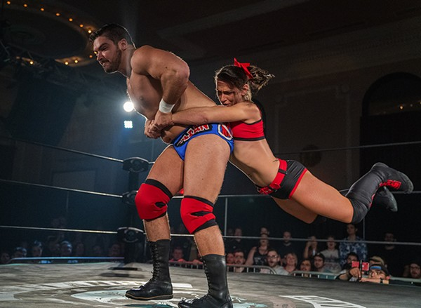 """""""All Ego"""" Ethan Page and """"Smiley"""" Kylie Rae at Logan Square Auditorium"""