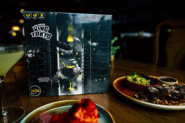 Try King Tokyo: Dark Edition with the house beef jerky